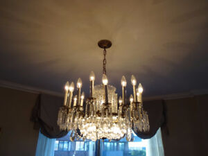 Crystal Chandelier and Fixture