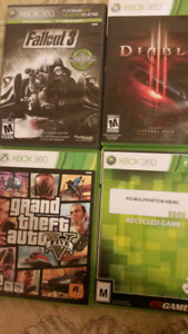 Xbox 360 games various prices