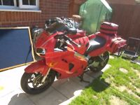 Honda VFR 800 Fi with extras! new battery bags SWAP CAR