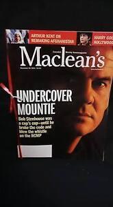 November 2001, Maclean's Magazine