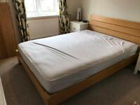Next oak effect kingsize bed