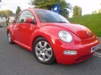 Vw Beetle 1.6, 2003 (03) reg, Red, 3 dr, Only 64k, Mot April 2018, Sh, Warranty