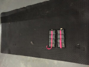 Ankle/wrist weights and yoga mat