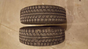 2 185 70 R14 Arctic Weathermate Snow Tires on Rims