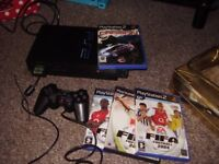 PLAYSTATION 2 BLACK WITH GAMES