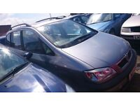 2003 VAUXHALL ZAFIRA ELEGANCE, 2.0 DTI, BREAKING FOR PARTS ONLY, POSTAGE AVAILABLE NATIONWIDE