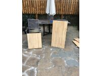 2 brand new pieces of Howdens oak block worktop