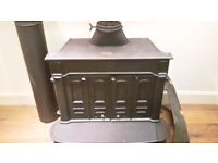 Stovax Regency multi-fuel stove / hearth / fireplace with BBQ shelf and fire guard