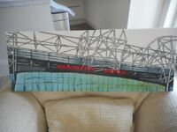 Manchester United Supporters - Original painting of ground - Great gift!