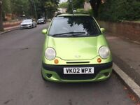 Daewoo Matiz SE plus 0.8 litres for sale, very low mileage, tinted rear window, MOT, drives ok.