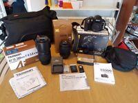 Nikon D3300 camera bundle. 2 lenses Tamron Af 70-300mm Nikon 18-105mm like new used a few times