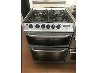 SILVER CANNON 60CM DOUBLE OVER GAS COOKER BIRMINGHAM