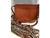 Across Body small handbag - Brown & Scarf