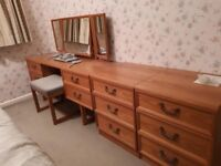 1970s G Plan bedroom set - dresser, 4 x 2 drawer units and blanket box OFFERS INVITED