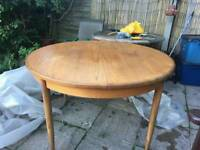 G plan round dining table