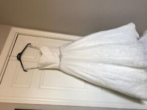 David Tutera lace wedding gown