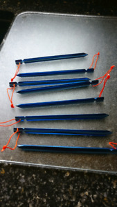 8 Ultra light tent tarp pegs stakes: 6 g each!