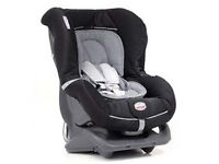 Britax First Class car seat Group 0 & 1 black/grey with full instructions. Collection Langley Moor