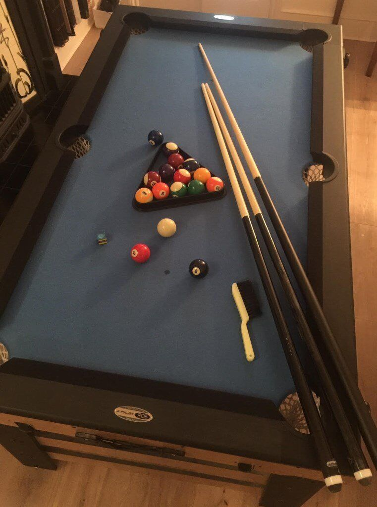Pool Table AS NEW Riley ROS Ft RollingLay Flat Folding Pool - Rolling pool table