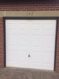 2x Hormann Vertical Panel up and over Garage Door in good condition (Matching Pair)