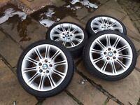 "BMW 18inch MV2 alloys + & ""new"" Uniroyal tyres"