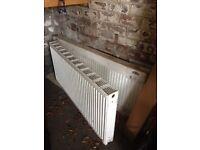2 double house radiators - 1 brand new