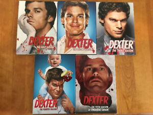Dexter DVD seasons 1 to 5
