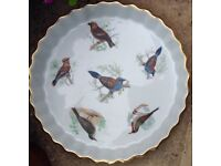 Lovely bird decorated SERVING DISHES
