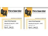2 Tickets Jesuschrist Superstar Open Air Theatre - 26 Aug at 19:45
