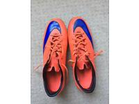 Nike Mecurial Size 9 Orange/Pink