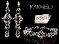 KARMELO SWAROVSKI ELEMENTS SILVER WEDDING JEWELLERY SET