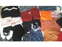 Assortment of ladies clothes. Sizes XS/S/6/8