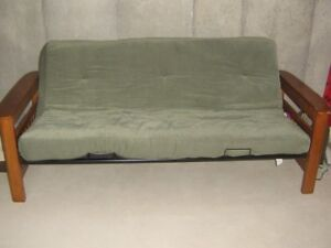 $REDUCED$GREAT CONDITION FUTON WITH MAT/CONVERT TO BED