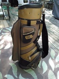 TOP FLITE GOLF BAG - LEATHER TRIM - VG CONDITION!!