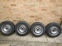 "VW T5 16"" STEEL WHEELS X 4"