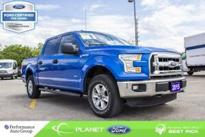 2015 Ford F-150 XLT|2.7L|V-6|4x4|SUPERCREW|FORD CERTIFIED