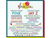 ×2 V festival North full weekend + camping