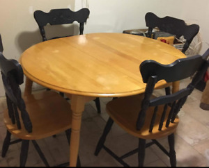 Birch table and 4 chairs