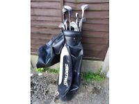 Golf clubs and bag £10