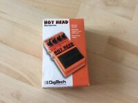 Digitech Hot Head Distortion Guitar Pedal in Box. As New.