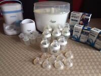 Tommee Tippee Sterilizer / Bottles & Philips Advent Feeding Bottles etc