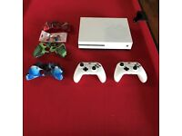 Xbox One S 1TB with Two Controllers and Seven Games