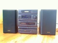 Panasonic Stereo, CD, Double Cassette Deck and Radio, Equaliser Excelllent condition, Remote Control