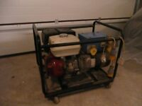 Honda 110v generator, 13hp, 2 x 16 amp outlets and one 32 amp outlet. very good condition works well