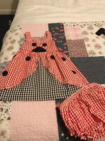 Ladybird girls dress summer age 2