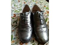 Pewter Clarks Hamble Oaks Brogues size 8