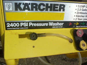 Karcher 2400 psi (gas) pressure washer