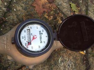 Senses water meter