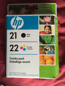 HP 21 Black and 22 Tri-colour Combo pack of Ink Cartridges