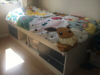 Single CABIN BED with 4 drawers and central open storage - IMMACULATE CONDITION